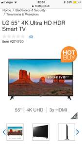 "LG 55"" 4K Ultra HD HDR Smart TV £449.89 @ Costco"