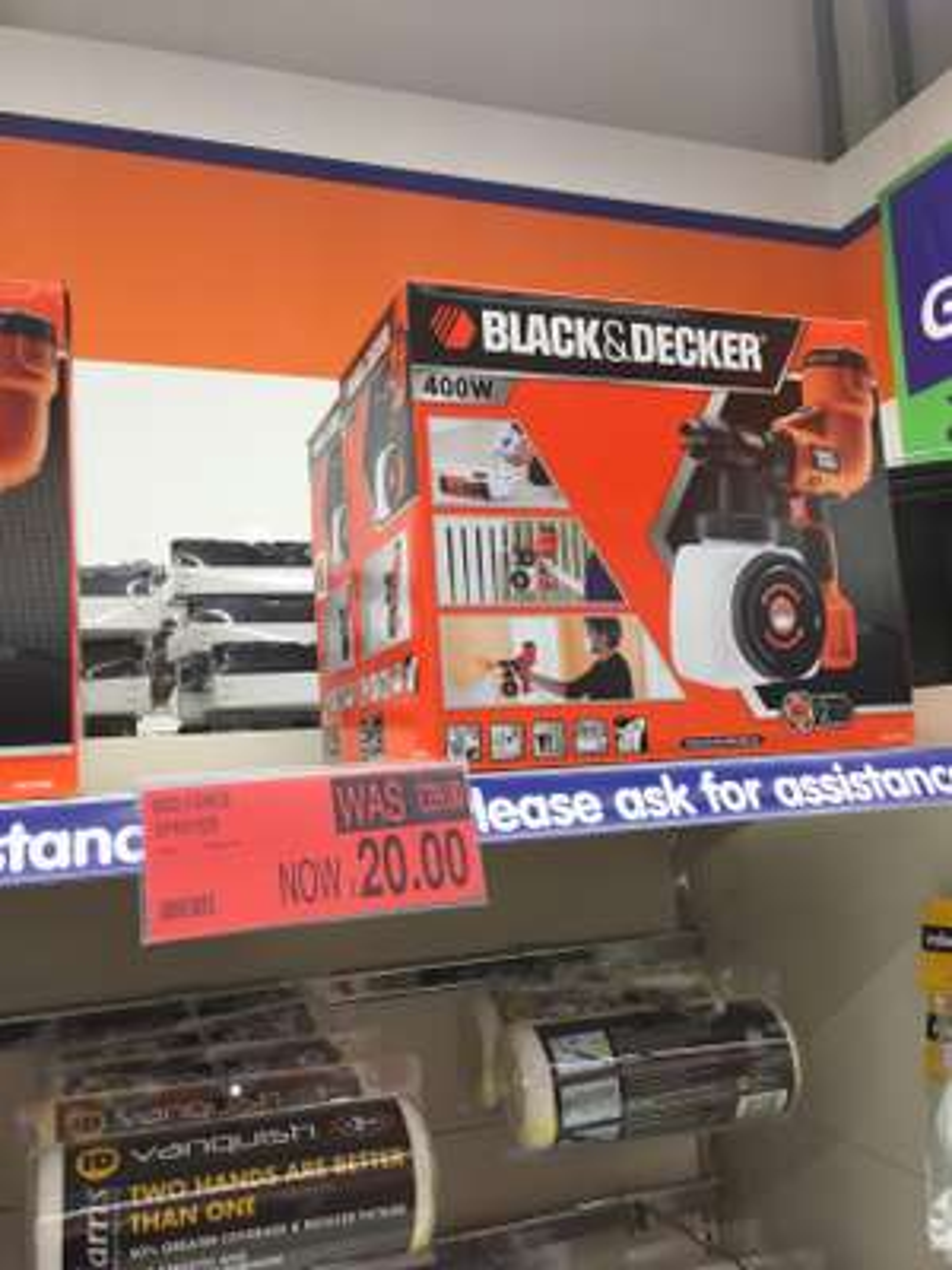 Black & Decker HVLP200 Fence Sprayer £20 Instore B&M