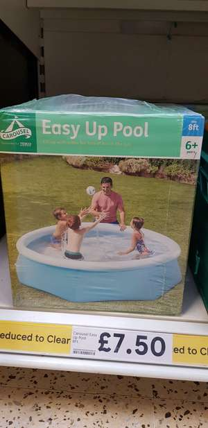 Easy Up Pool 8ft instore at Tesco for £7.50 (found Leicester)