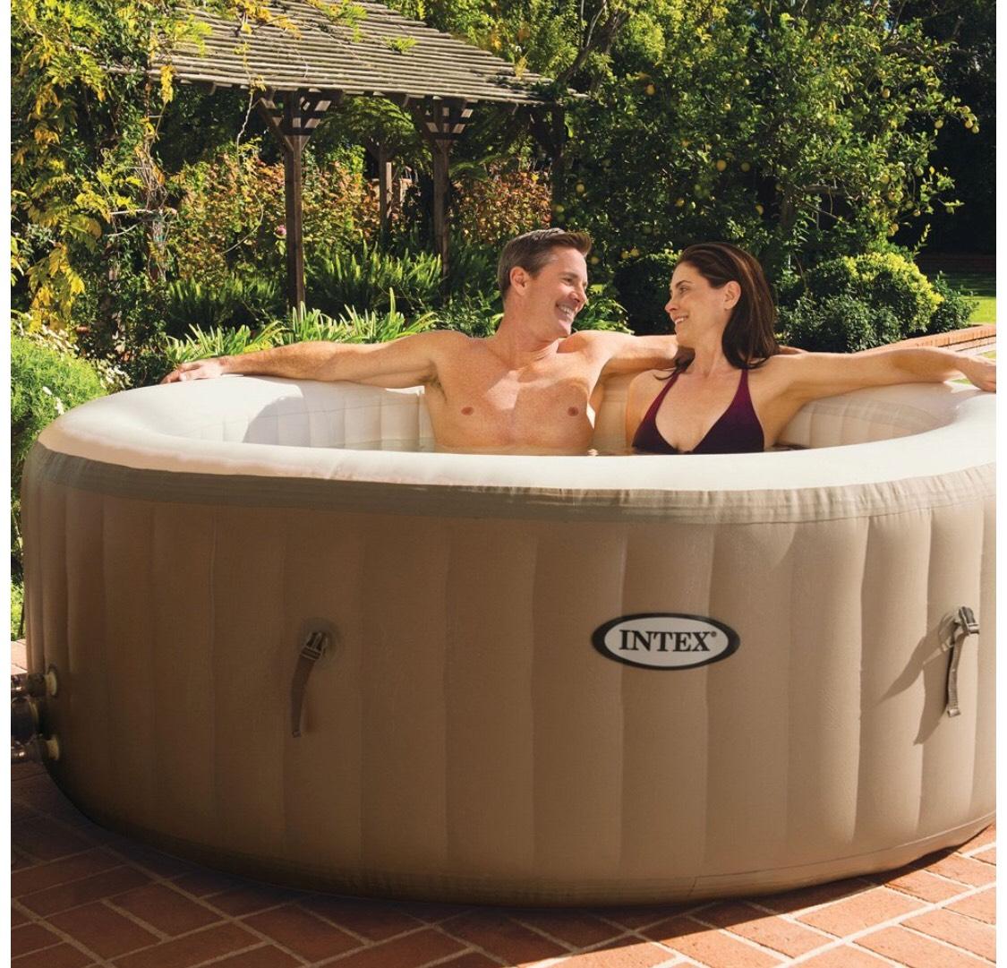 Intex Pure Spa - 6 person Bubble Therapy Hot Tub, Beige - £499.99 @ Amazon