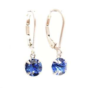 pewterhooter 925 Sterling Silver lever back earrings handmade with petite Sapphire Blue crystal from SWAROVSKI £3.99 prime / £8.48 non prime Sold by pewterhooter and Fulfilled by Amazon