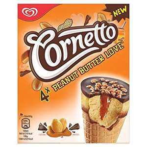 X4 90ml walls peanut butter cornetto 69p at b&m (national but only stores that sell freezer items)