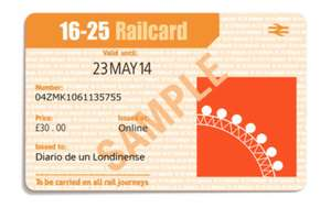 Free four year 16-25 railcard by opening student bank account even if it's not the bank of choice - @ Santander