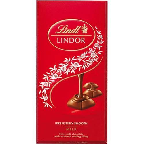 Lindt Lindor Chocolate Bar Milk 100g 125 At Sainsburys