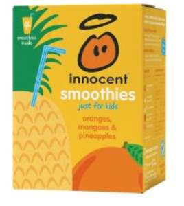 Innocent smoothies for kids 4 pack £1.60, half price mango & pineapple, strawberry & raspberry, Apple & blackcurrant, peach & passion fruit, cherry & strawberry, pineapple apple & carrot @ Tesco