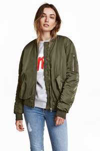 Oversized bomber jacket for £11.99 (delivered for club member or else £3.99) @H&M
