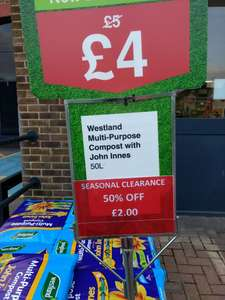 Westland Multi-Purpose Compost Half Price at Wickes £2