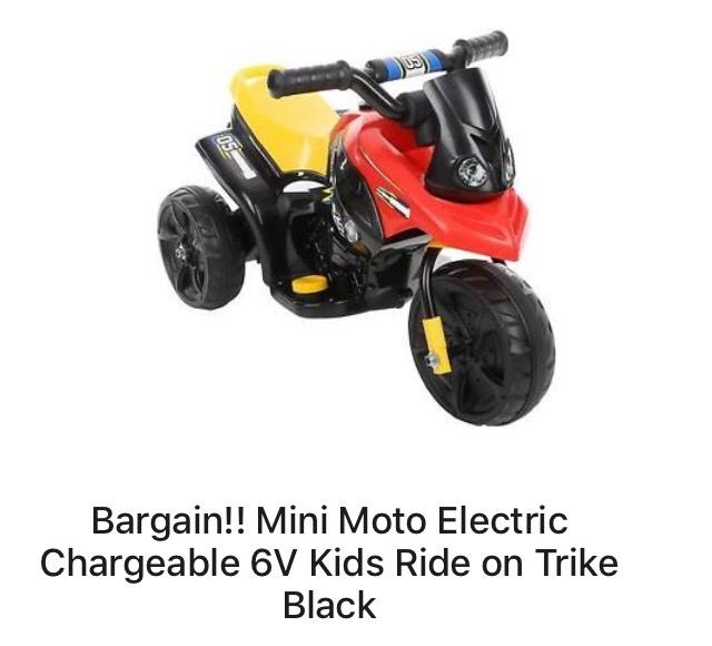 Mini Moto 6V Kids' Ride On Trike (Free C&C @ Halfords)