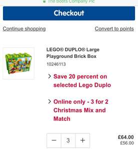 Lego Duplo Playground Brick Box - 20% off was £40 now £32 and 3 for 2 @ Boots Online