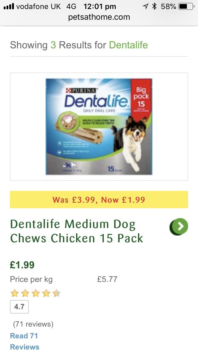 Purina dentalife £1.99 @ Pets at Home