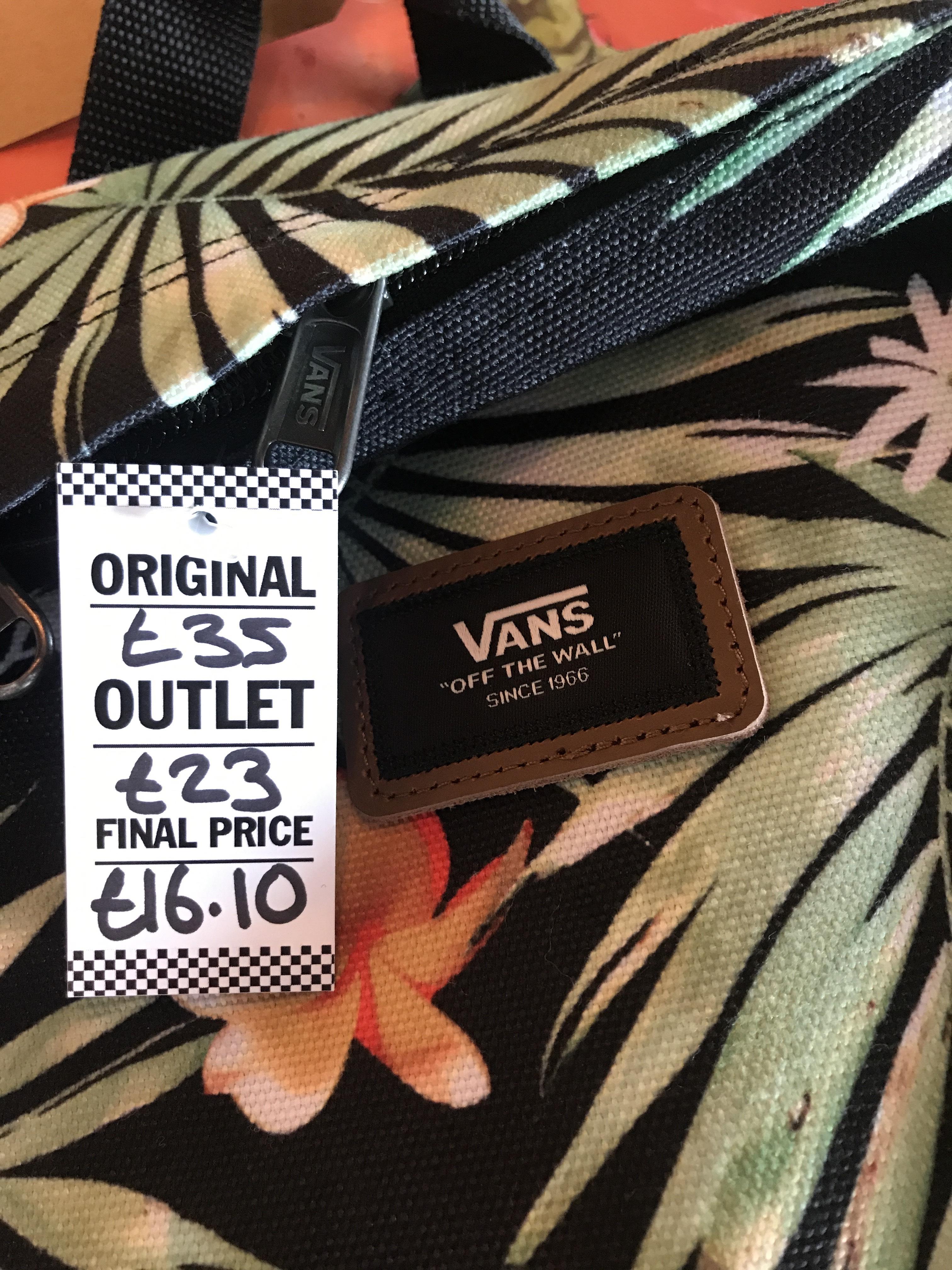 Vans Outlets Reductions (Inc. back packs) at Vans Outlet Birmingham