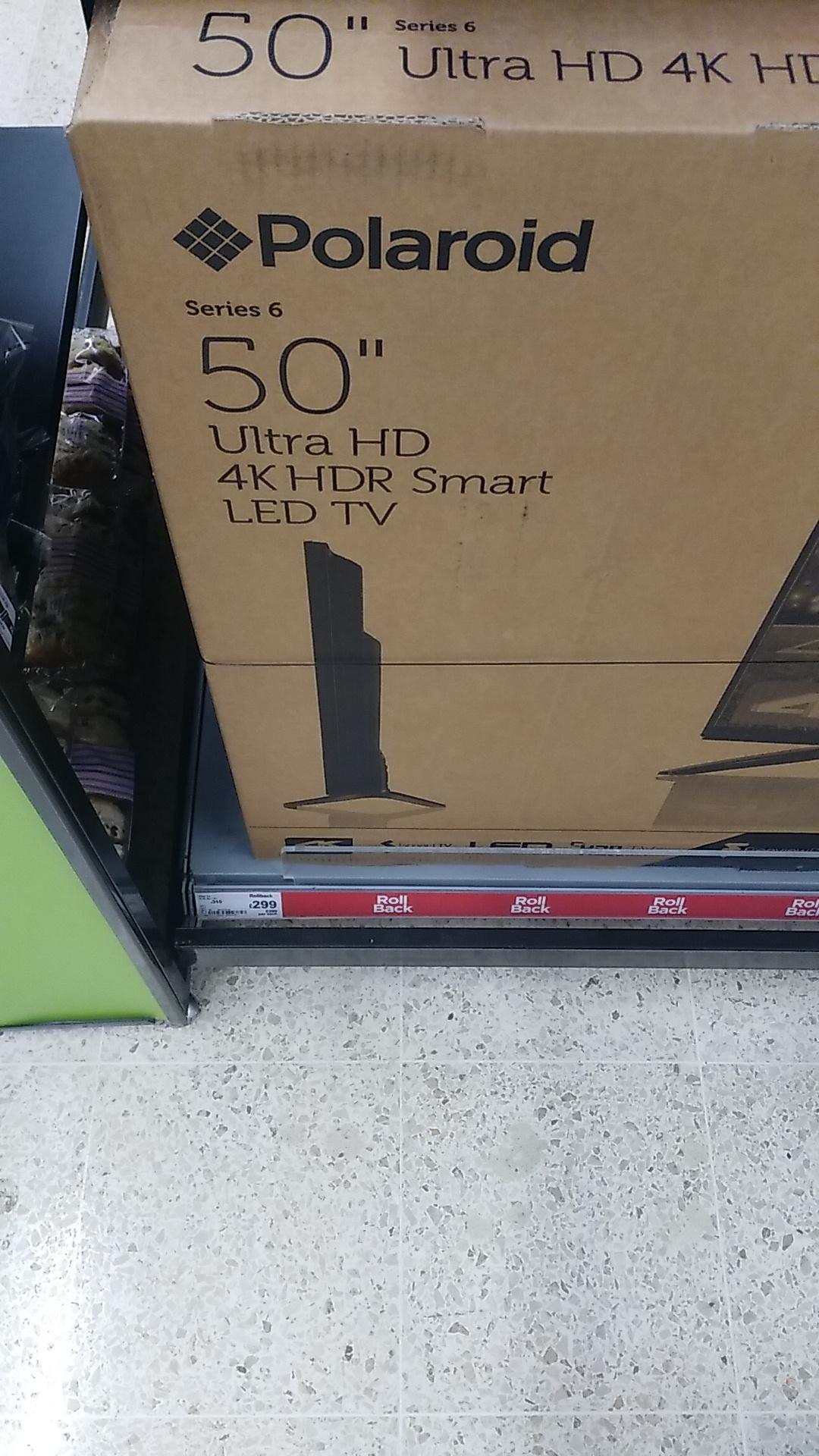 Polaroid P50US0956A 50 Inch SMART 4K Ultra HD LED TV £299 instore @ Asda