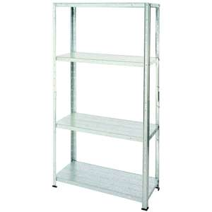 Galvanised Steel 4 Shelf Storage Unit - £10 @ Homebase