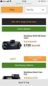 Nextbase Duo HD Dashcam for £135 at Halfords