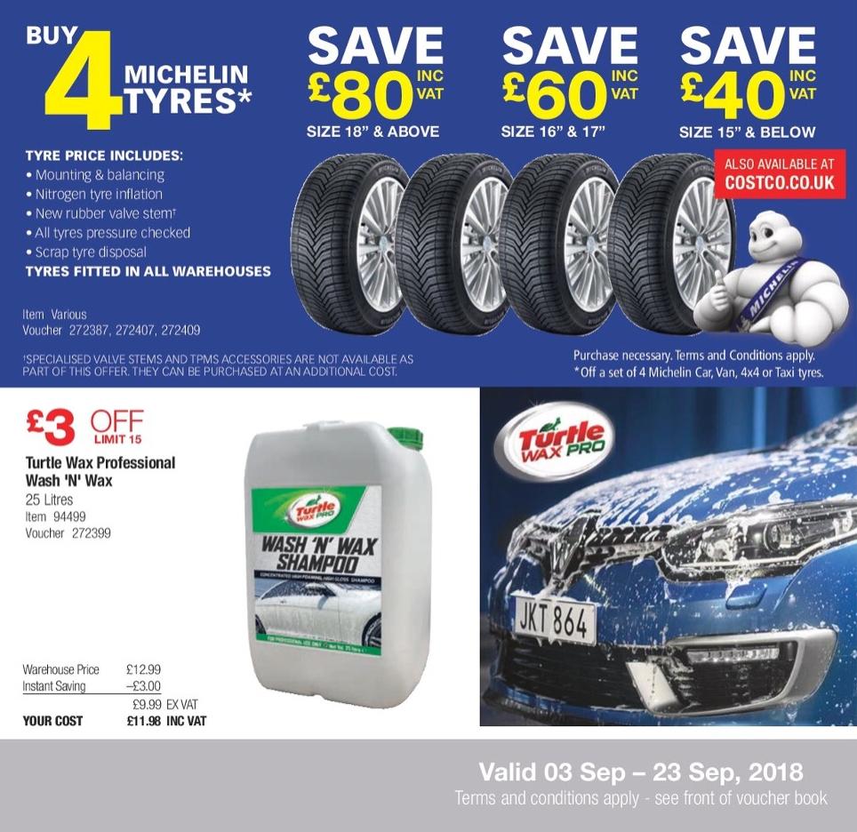 4 x Michelin Pilot Sport 4 225/40 R18 Y (92) XL - £333.60 @ Costco