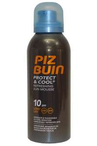 Piz Buin Protect & Cool Refreshing Sun Mousse SPF 10 150ml ( INSTORE ONLY ) at Home Bargains