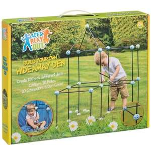 Build Your Own Den Great for Indoors & Outdoors ONLY £1 includes 30 Poles, 20 Connectors &8  Den Covers instore @ B&M