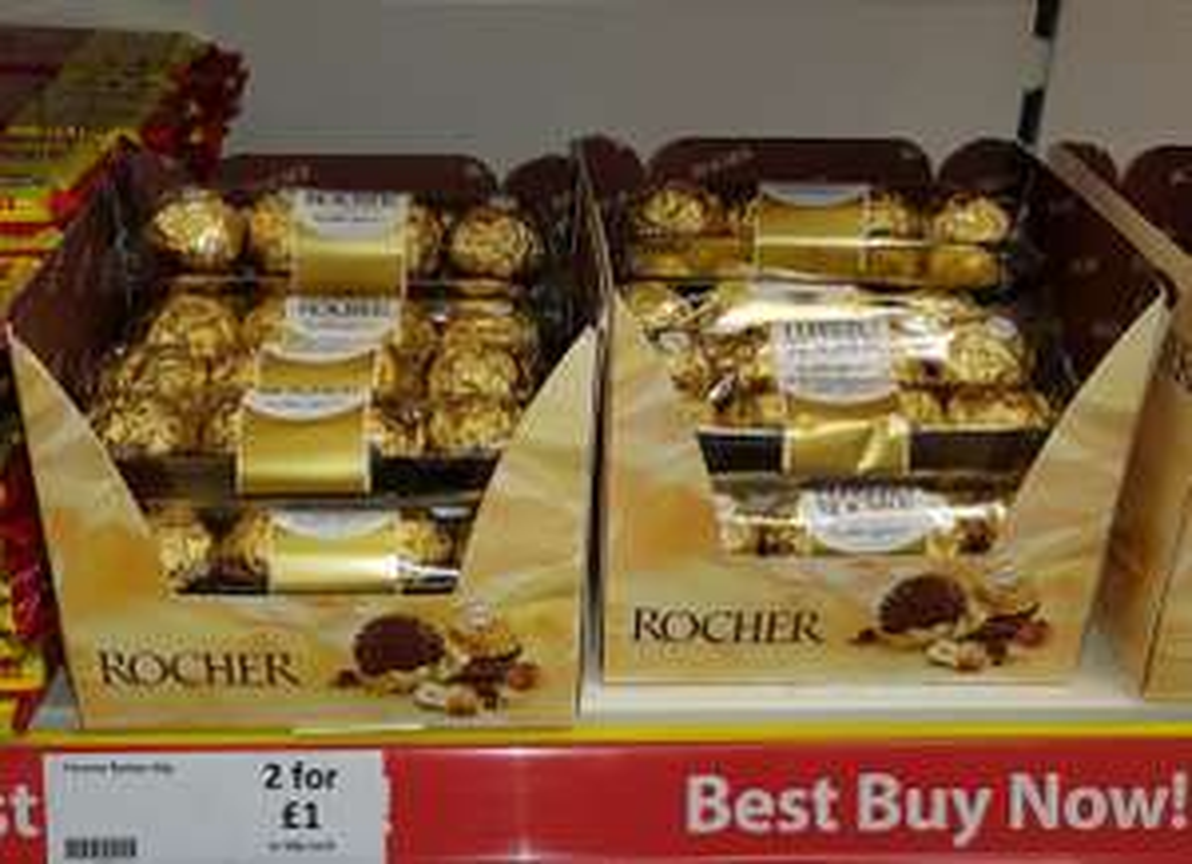 Ferrero Rocher (Pack of 4) 1 x 60p or 2 x £1 - Heron Foods