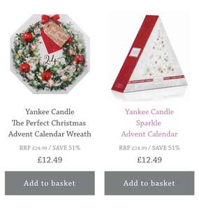 Yankee Candle Christmas Advent Calendars £12.49 + £2.99 P&P @ Candles Direct