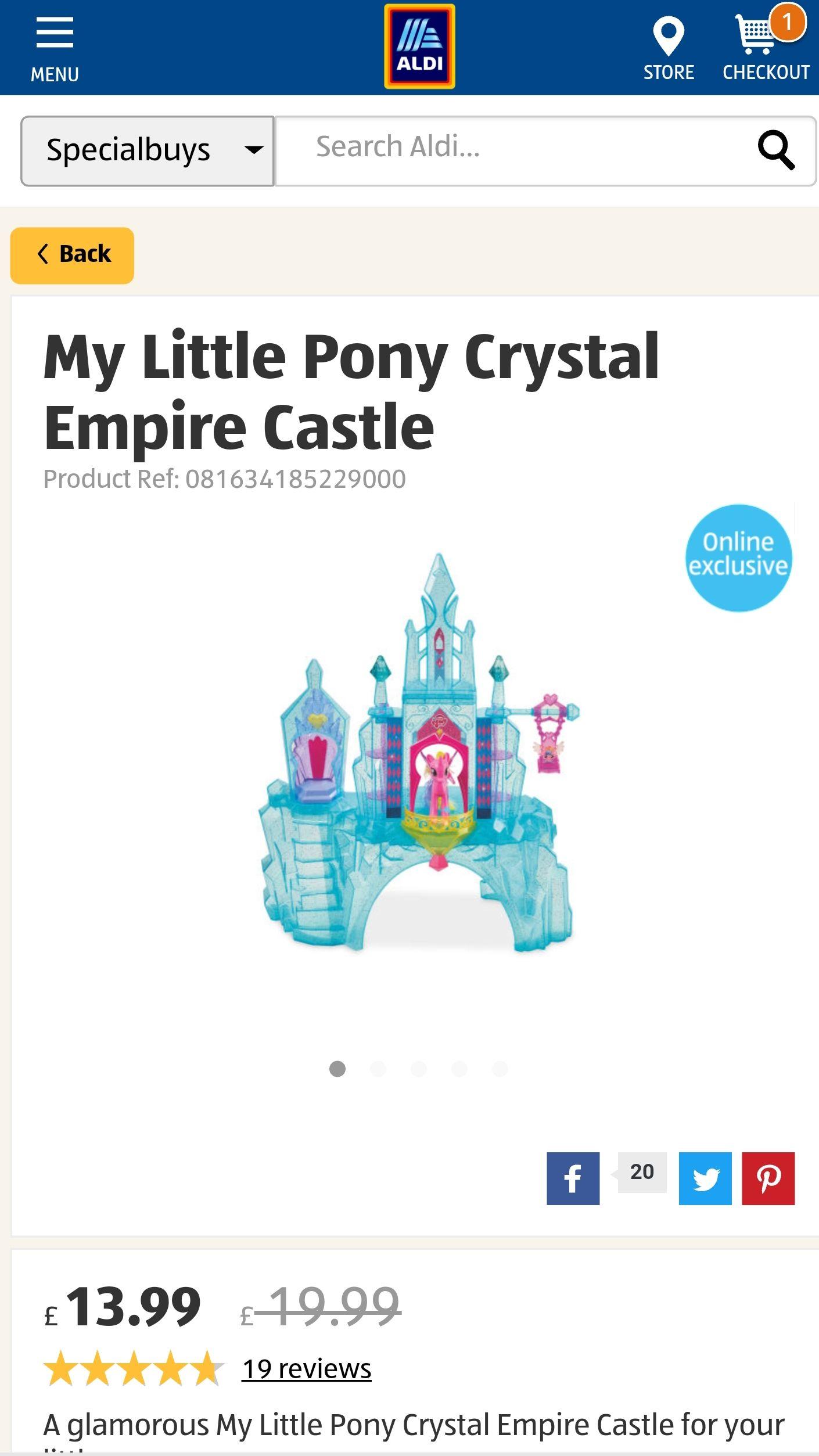 My little pony crystal empire castle - £16.94 @ Aldi