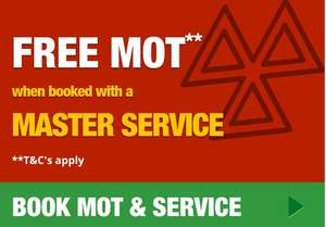 Free MOT with a master service @ F1autocentres