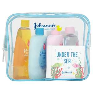 New babywish list free gift with £10 Spend at amazon - Johnson's baby bath time gift set
