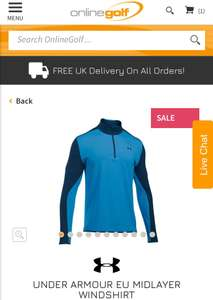2db1e9a73ba3 Under armour Golf 1 4 Zip Windshirt £20   Online golf