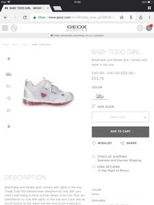 Geox Sale e.g BABY TODO GIRL £23.75 delivered