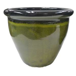Wilko Plant Pot Madison 21.5x18cm Green Pot Now £2 (Free Click & Collect)