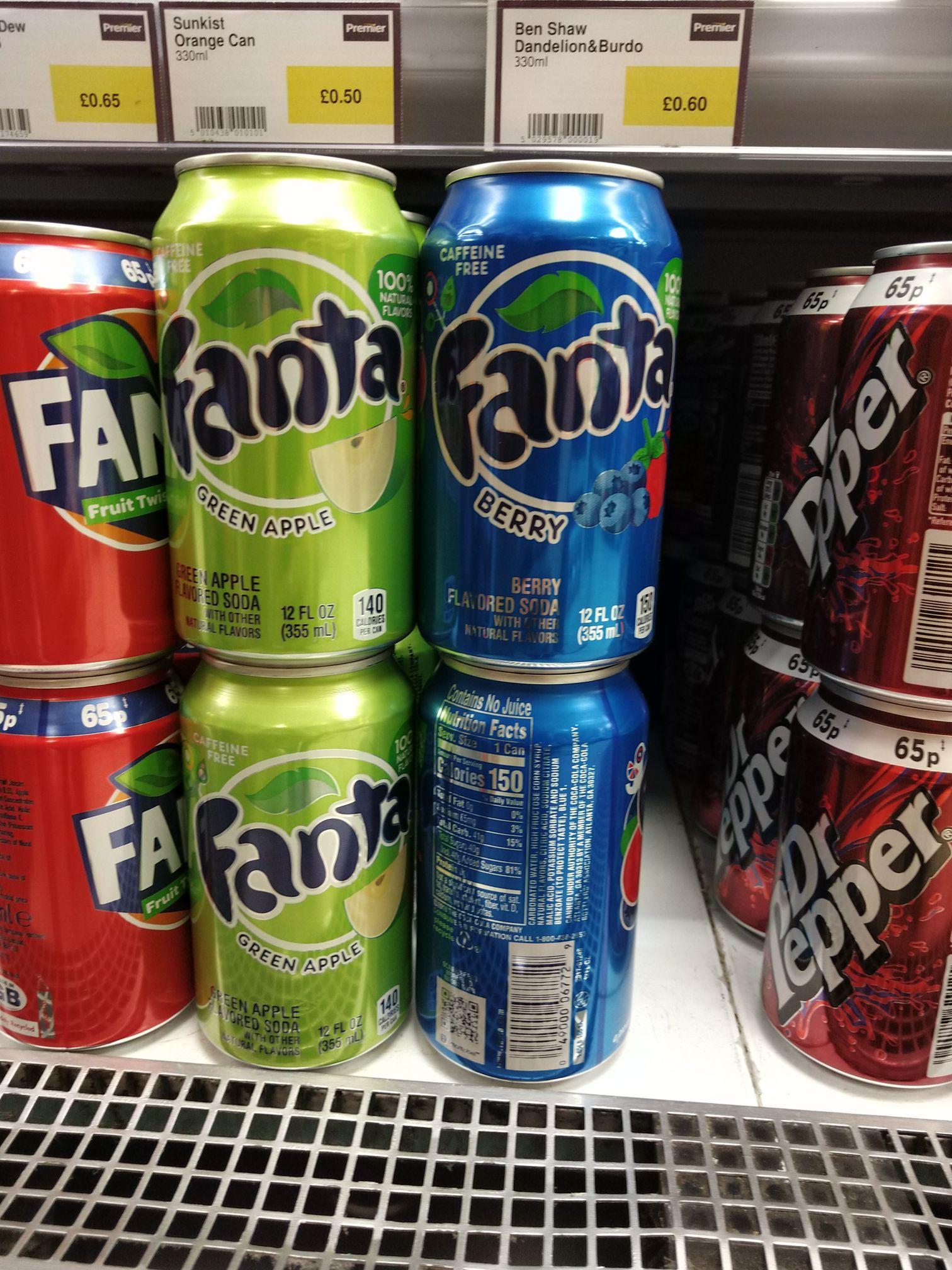 New Fanta Apple/Berry £1.49 Sharma Stores Swansea (Premier)