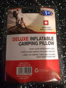 Inflatable camping pillow, IN STORE, 50p B&M