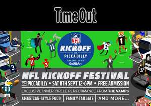 Free NFL Kick Off Event at Piccadilly, London on Saturday 8th September between 12pm to 6pm @ Time-out