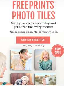 Photo tile on Free Prints Photo Tile app. Only pay delivery (£5.99) at Google Play Store