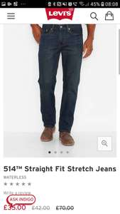 Levi Jeans Classic straight-fit jeans 50% off £35 (£3.99 delivery) @ Levi's