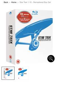 Star Trek 1-10 Blu-Ray Stardate Collection £29.99 Zavvi