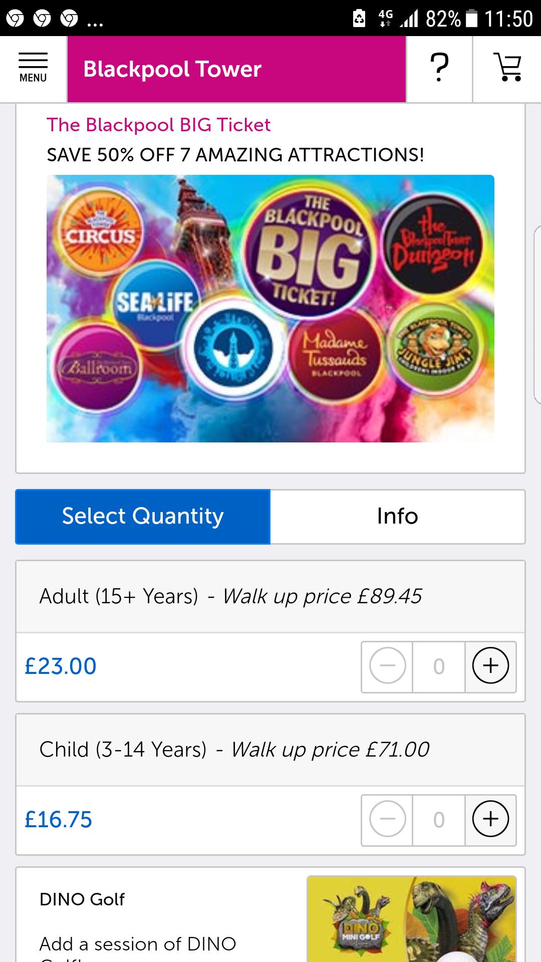 Blackpool Merlin Attractions Pass BIG TICKET!! £23