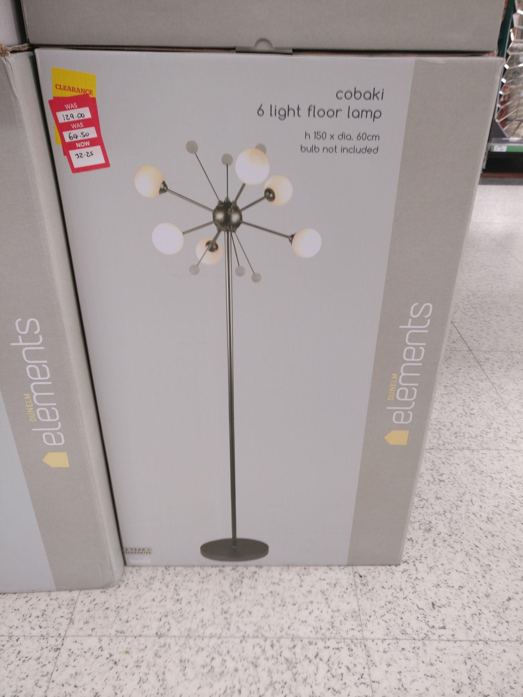 Tall lamp Dunelm multi globe design £32.25 instore - Ashton
