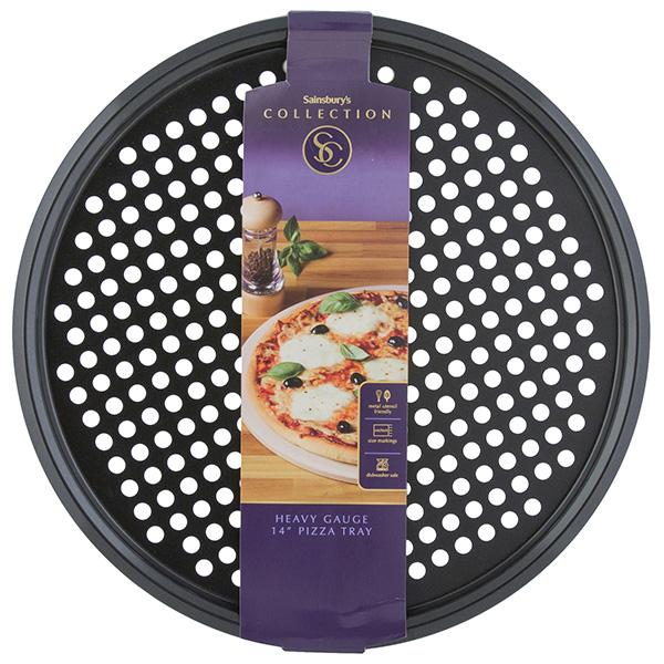 "Sainsbury's heavy gauge pizza tray 14"" £4.25 was £8.50 @ Sainsbury's"