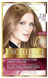 L'Oréal Excellence 7.31 caramel blonde Hair Dye , Pack of 3 £5.08 prime exclusive or £4.32 S&S @ Amazon