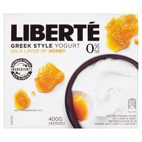 Liberte 0% Fat Greek Style Honey Yogurt 4 X 100g, 3 packs For £1 @ Heron Foods