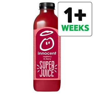 Innocent Raspberry And Cherry Super Juice, Apple, Pear & Cucumber Wonder Green & Orange Super Juice 750Ml HALF PRICE only £1.49 Links in op @ Tesco