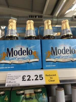 Modelo especial imported cerveza Mexican beer £2.25 at Tesco instore decent 4x 355ml bottled lager