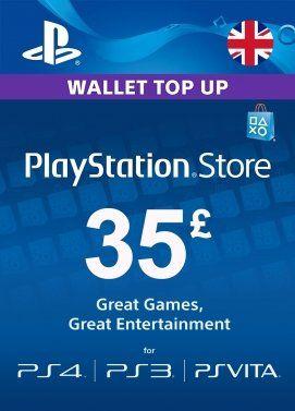 PlayStation Network Card £35 (United Kingdom). £30.49 @ INSTANT GAMING