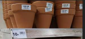 Small 11cm Clay Pot - 10p instore @ Wilko (Sutton)