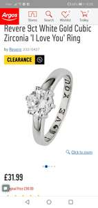 If you like it then you should put a ring on it. ARGOS clearance jewellery sale. Engagement ring - £31.99 (free C&C)