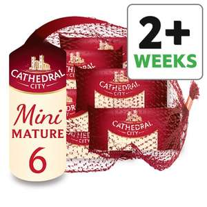 Cathedral City Mini Mature Cheddar Cheese 6 Pk, 120 G Ideal for lunches ONLY £1 @ Tesco