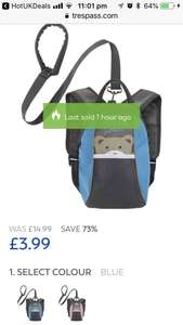 BLUE / PINK TODDLERS BACKPACK - £3.99 @ Trespass (free C&C)