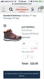 Jack Wolfskin boots £22.95 Cotswold Outdoor