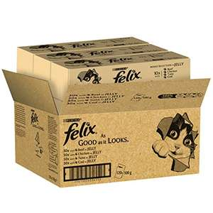 Felix As Good As It Looks Cat Food Mixed Variety 120 x 100g (120 Pouches) £16.79 Deal of the Day + 25% Voucher with S&S @ Amazon