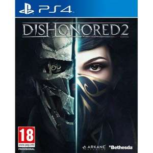 DISHONORED 2 PS4 NEW. Free delivery £6.95 @ TGC